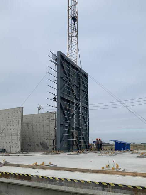 1#冷箱基础完成作为第一个土建交安工序交付安装