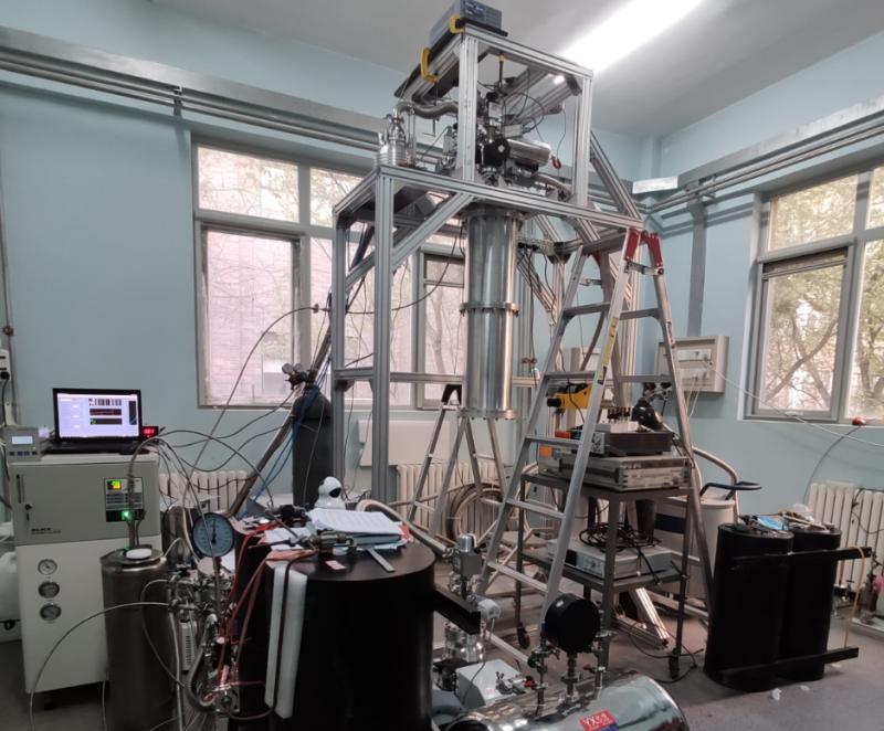 物理所10mK原型机全貌。图片来源:中国科学院物理研究所